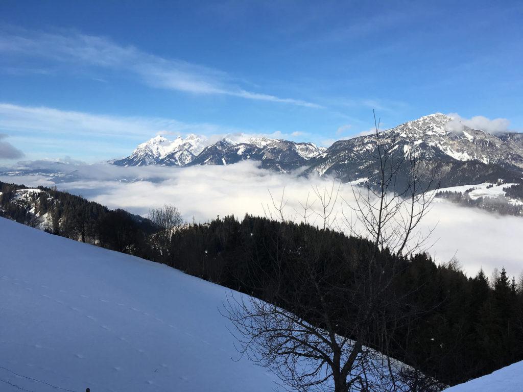 Panoramablick zum Dachstein