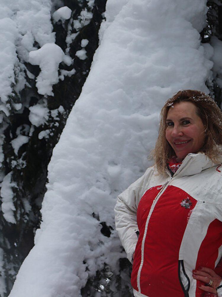 unberührte Schneelandschaft
